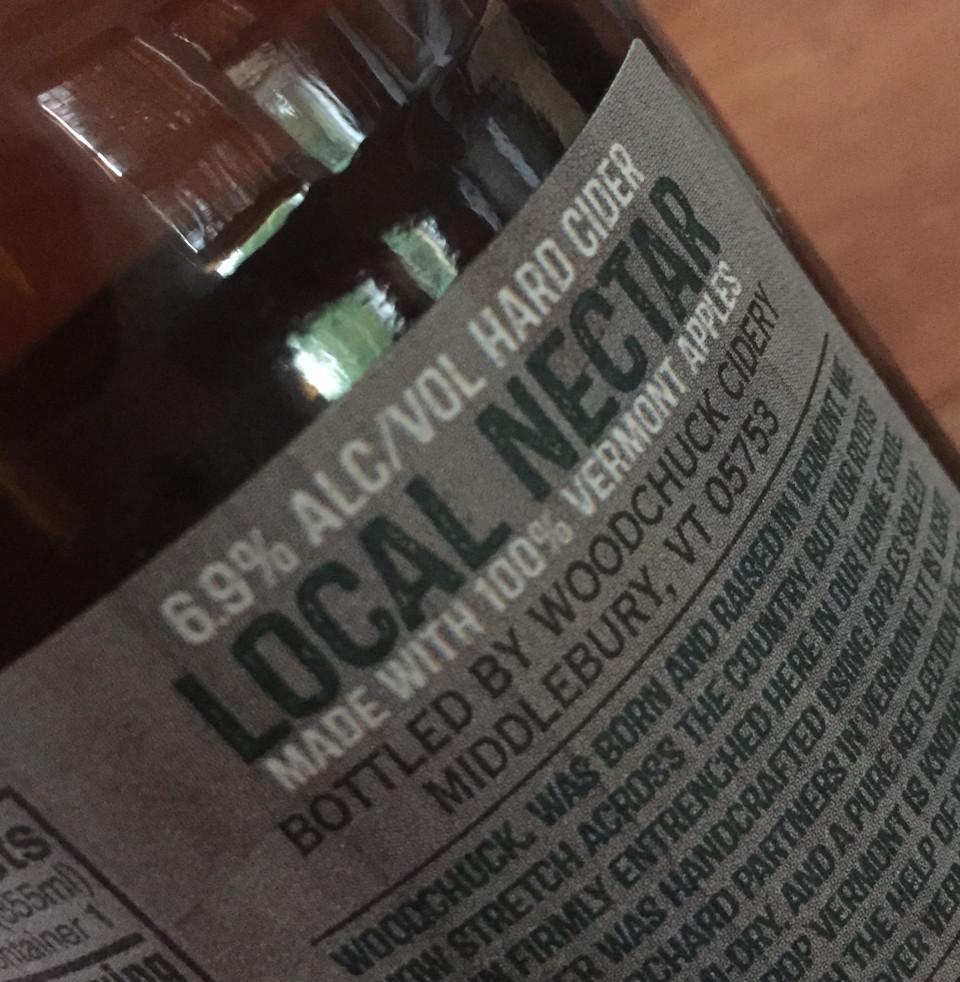 local nectar 100% Vermont apples